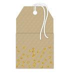 Hampton Art - Tags - Pocket with Glitter Accents - Kraft