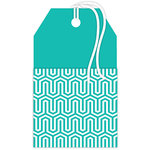 Hampton Art - Tags - Pocket - Blue Pattern
