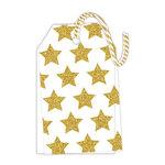 Hampton Art - Tags - Vellum with Glitter Accents - Stars