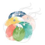 Hampton Art - Tags with Twine - Watercolor