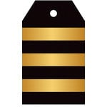 Hampton Art - Tags - Stripe - Black and Gold