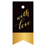 Hampton Art - Tags - Love - Black and Gold