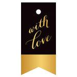 Hampton Art - Tags - Love - Black and Gold