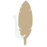 Hampton Art - Tags with Twine - Feather - Kraft