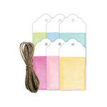 Hampton Art - Tags with Twine - Watercolor - Multi-Color
