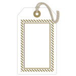 Hampton Art - Tags - Letterpress - White