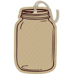Hampton Art - Tags - Embossed - Jar - Kraft