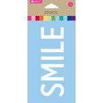 Hampton Art - 6 Inch Stencil - Smile