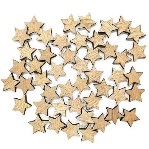 Hampton Art - Barn Party Collection - Wood Confetti - Stars