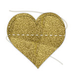 Hampton Art - Banner - Stitched - Gold - Heart