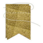 Hampton Art - Banner - Stitched - Gold - Pennant