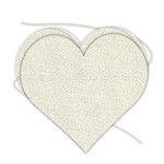 Hampton Art - Banner - Stitched - Canvas - Heart