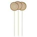Hampton Art - Barn Party Collection - Wood Slab Picks - 3 Pack
