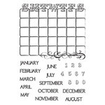 Hampton Art - Post Script Clear Stamps - by Kolette Hall - Calendar, CLEARANCE