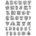 Hampton Art - Post Script Clear Stamps - by Kolette Hall - Alphabet Large, CLEARANCE