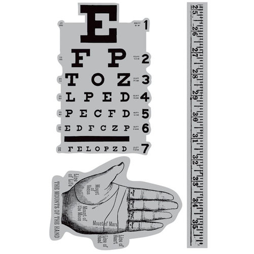 Hampton Art - 7 Gypsies - Cling Mounted Rubber Stamps - Eye Chart