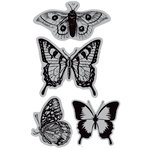 Hampton Art - 7 Gypsies - Cling Mounted Rubber Stamps - Butterflies