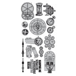 Hampton Art - 7 Gypsies - Cling Mounted Rubber Stamps - Time Pieces