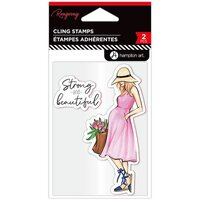 Hampton Art - Cling Stamps - Strong and Beautiful