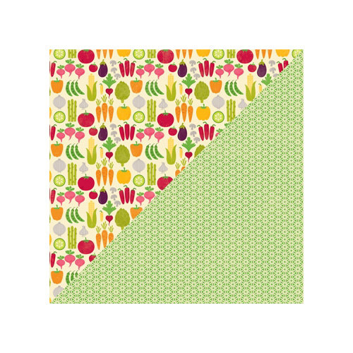 Jillibean Soup - Fresh Vegetable Soup Collection - 12 x 12 Double Sided Paper - Baby Carrots