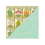 Jillibean Soup - Fresh Vegetable Soup Collection - 12 x 12 Double Sided Paper - Crushed Ginger