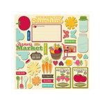 Jillibean Soup - Fresh Vegetable Soup Collection - Pea Pod Parts - Die Cut Cardstock Pieces - Shapes