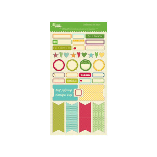Jillibean Soup - Fresh Vegetable Soup Collection - Cardstock Stickers - Labels