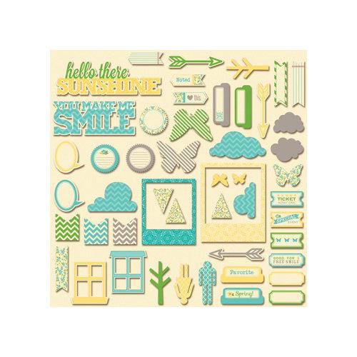 Jillibean Soup - Chilled Cucumber Soup Collection - Pea Pod Parts - Die Cut Cardstock Pieces - Shapes