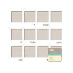 Jillibean Soup - Placemats - 12 x 12 Die Cut White Paper - Frames