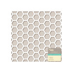 Jillibean Soup - Placemats - 12 x 12 Die Cut White Paper - Hexagons