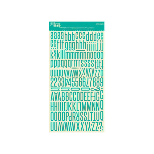 Jillibean Soup - Alphabeans Collection - Alphabet Cardstock Stickers - Blueberry Teal