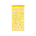 Jillibean Soup - Alphabeans Collection - Alphabet Cardstock Stickers - Banana Yellow