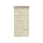 Jillibean Soup - Alphabeans Collection - Alphabet Cardstock Stickers - Mushroom Gray