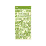 Jillibean Soup - Alphabeans Collection - Alphabet Cardstock Stickers - Apple Green