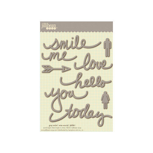 Jillibean Soup - Wise Words - Cardstock Stickers - Smile - Gray