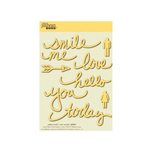 Jillibean Soup - Wise Words - Cardstock Stickers - Smile - Yellow