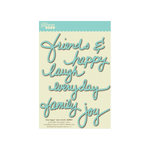 Jillibean Soup - Wise Words - Cardstock Stickers - Happy - Blue