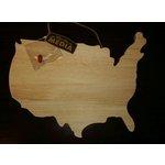 Jillibean Soup - Naturalist Collection - Raw Surfaces - USA Map