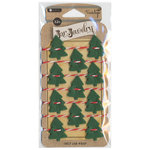 Hampton Art - Jar Jewelry - Christmas - Felt Jar Wrap - Trees