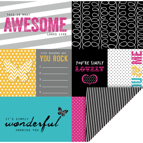 KI Memories - Mini Celebrations Collection - 12 x 12 Double Sided Paper - Simply Lovely