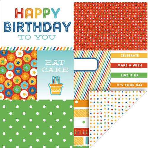 KI Memories - Mini Celebrations Collection - 12 x 12 Double Sided Paper - Happy Birthday