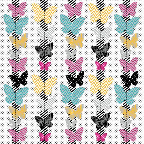 KI Memories - Mini Celebrations Collection - 12 x 12 Ruffle Paper - Flutter Lovely