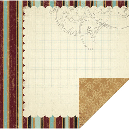 KI Memories - Vintage Charm Collection - 12 x 12 Double Sided Paper - Elegant Graph
