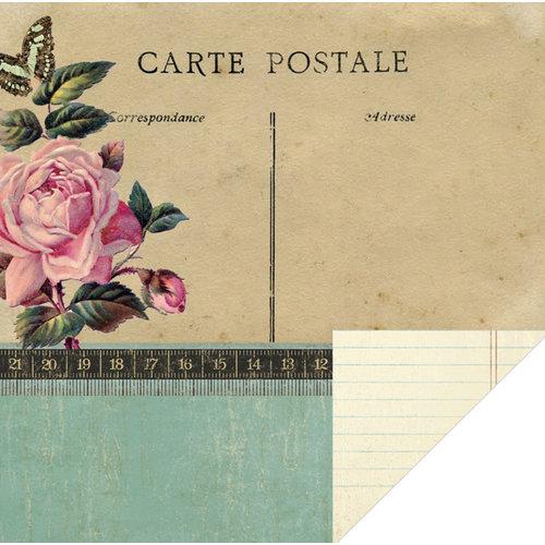 KI Memories - Vintage Charm Collection - 12 x 12 Double Sided Paper - Carte Postale