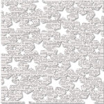 KI Memories - Playlist Collection - 12 x 12 Die Cut Lace Paper - Star Quality