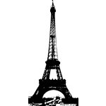 Hampton Art - Wood Mounted Stamps - Eiffel Tower