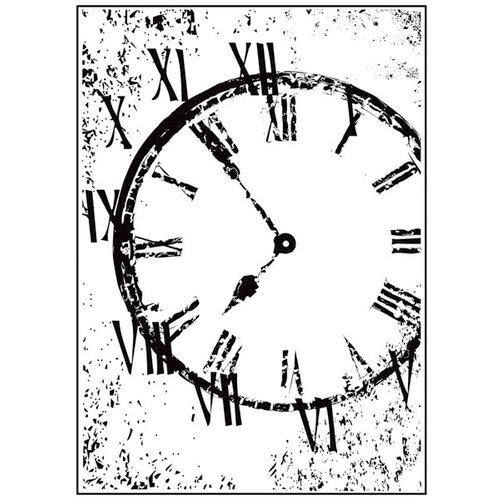 Hampton Art - 7 Gypsies - Wood Mounted Stamps - Distressed Clock