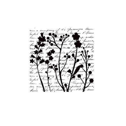 Hampton Art - Hot Fudge Studio - Wood Mounted Stamps - Wildflower Collage