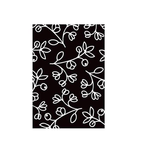 Hampton Art - Hot Fudge Studio - Wood Mounted Stamps - Silhouette Flower Background