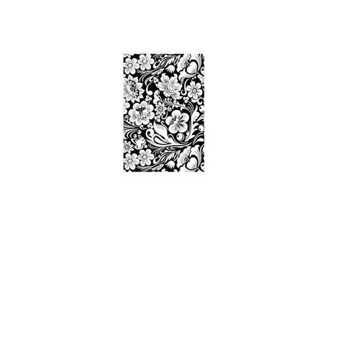 Hampton Art - Art Warehouse - Wood Mounted Stamps - Flower Power Background